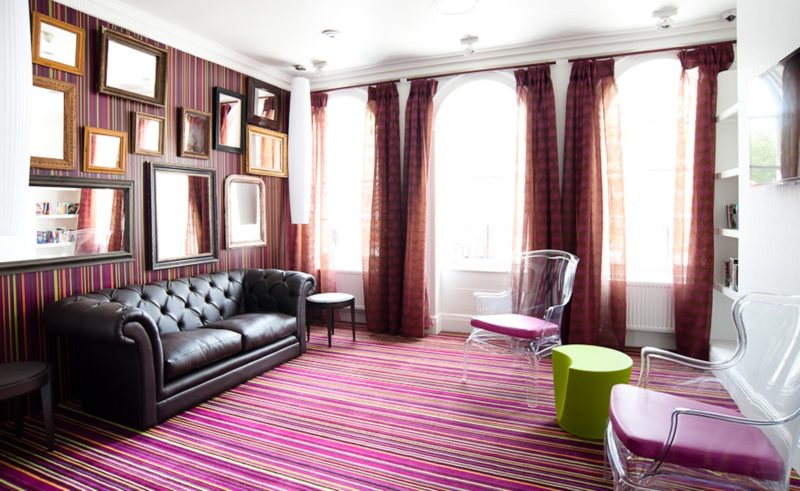 Lounge areas and public spaces at hostel in Edinburgh