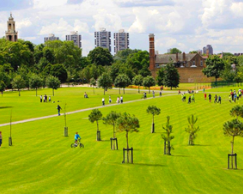 Burgess Park is the perfect place to chill out with picnic grub